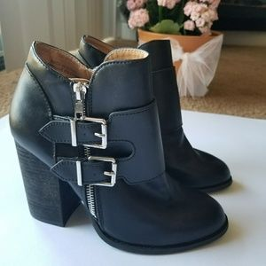Urban outfitters | Black Booties with Buckles